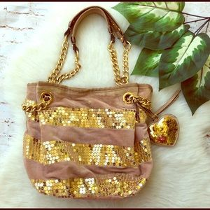 Pink & Gold sequined Juicy Couture Bag!